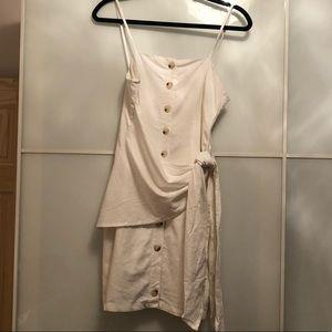 Sabo Skirt linen white mini dress